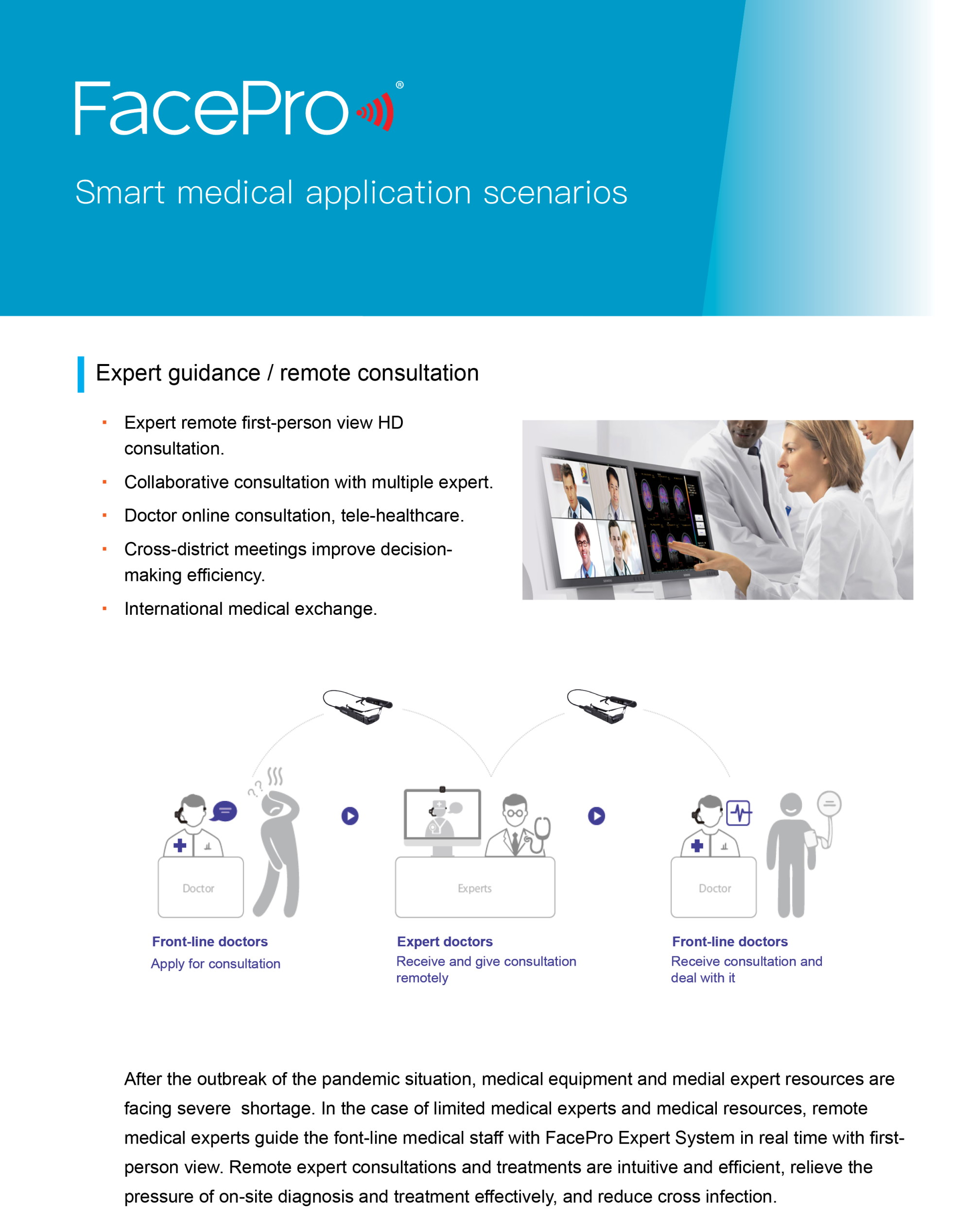FacePro Xpert System Telemedicine Solution